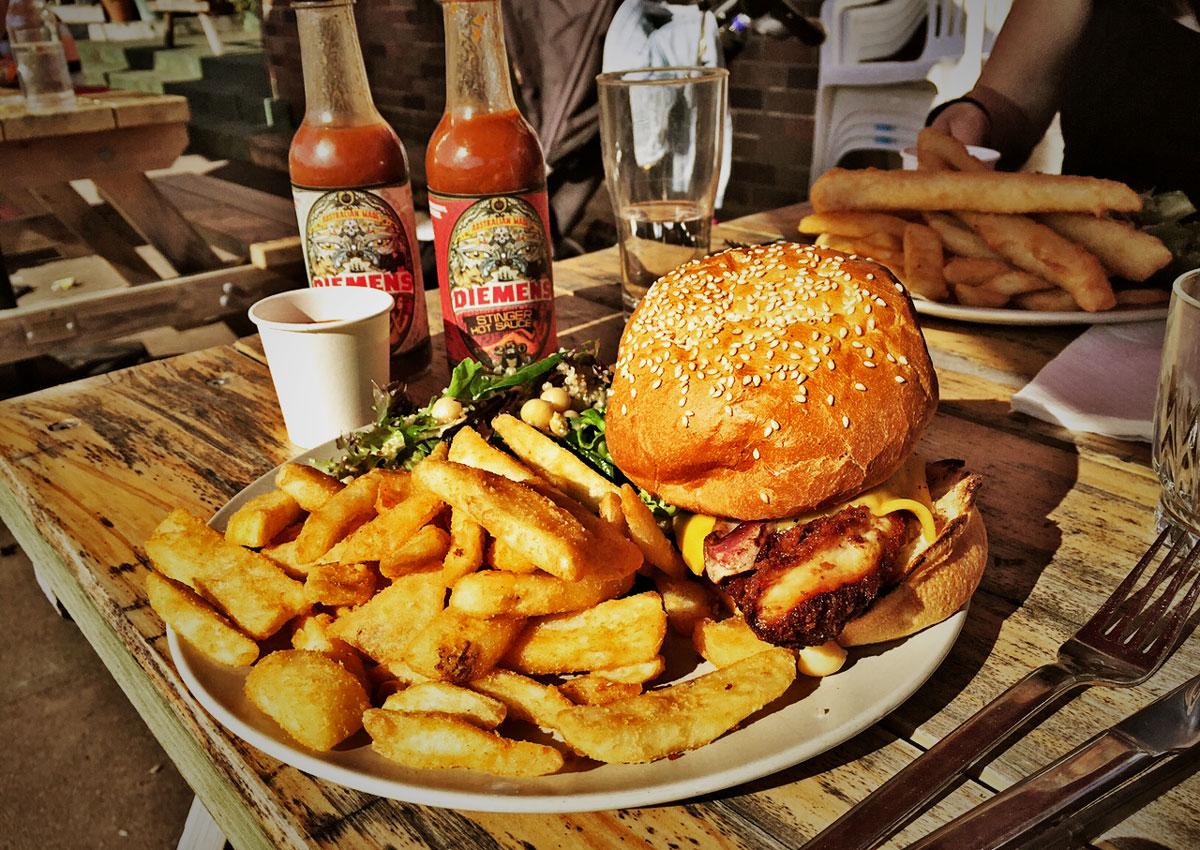 Bondi Bowling Club, Bowlo, North Bondi, Chicken Schnitzel Burger, Schnitty, Schnitz, Fried Chicken Burger Review Food Critic HolyCluck Holy Cluck Sandwich Chook Eran Thomson