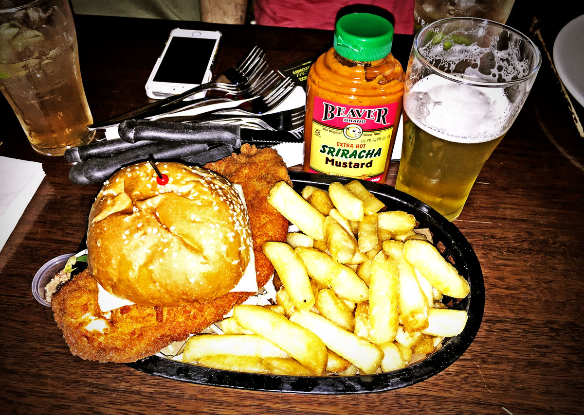 Trinity Bar Hotel Pub Fried Chicken Schnitzel Burger Review Food Critic HolyCluck Holy Cluck Sandwich Chook Eran Thomson