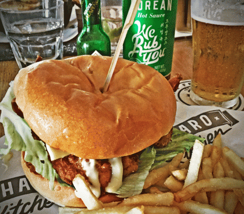 Charing Cross Hotel & Pub Fried Chicken Burger Sandwich Review Fourth Chicken Burger Review Food Critic HolyCluck Holy Cluck Sandwich Chook Eran Thomson