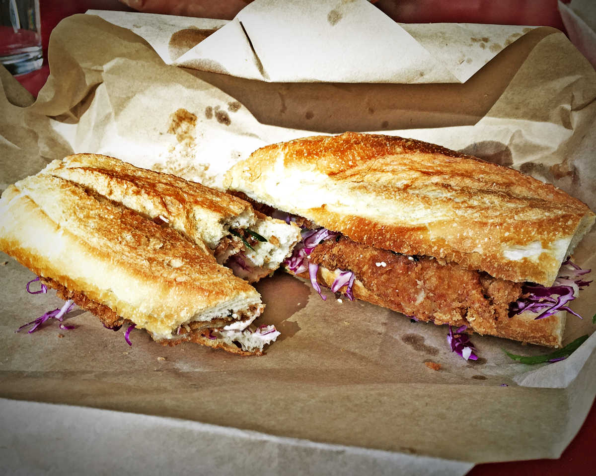 Lucky Pickle, Katsu Chicken Sandwich Review Food Critic HolyCluck Holy Cluck Sandwich Chook Eran Thomson
