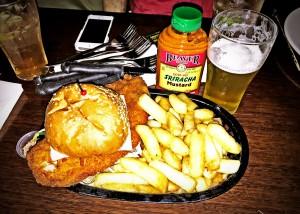 Trinity Bar Hotel Pub Fried Chicken Schnitzel Burger Review Food Critic HolyCluck Holy Cluck Sandwich Chook Eran Thomson
