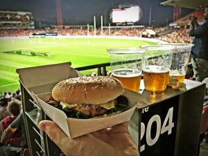 Bells Burgers Spotless Stadium Portuguese Chicken Burger Review, Chicken Burger Review Food Critic HolyCluck Holy Cluck Sandwich Chook Eran Thomson